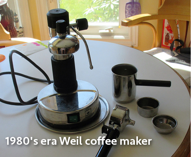 Weil Multi-Chef Steam powered coffee maker - 1980's $100